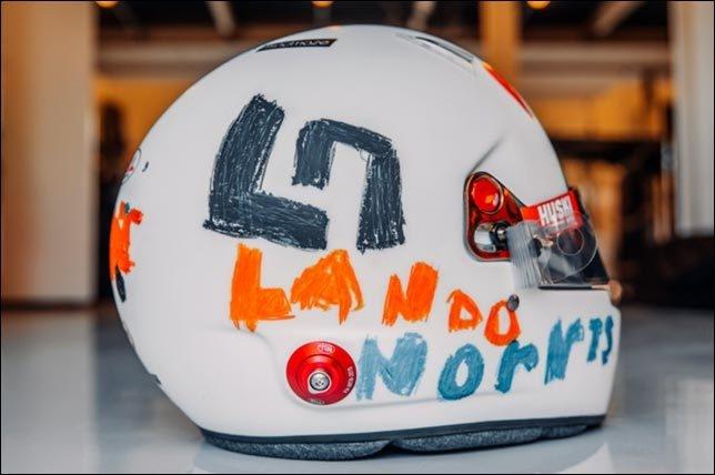 Шлем Ландо Норриса. Фото twitter.com/LandoNorris.