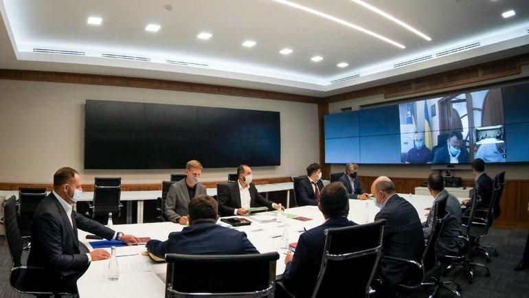 Совещание в офисе президента Украины. Фото president.gov.ua.