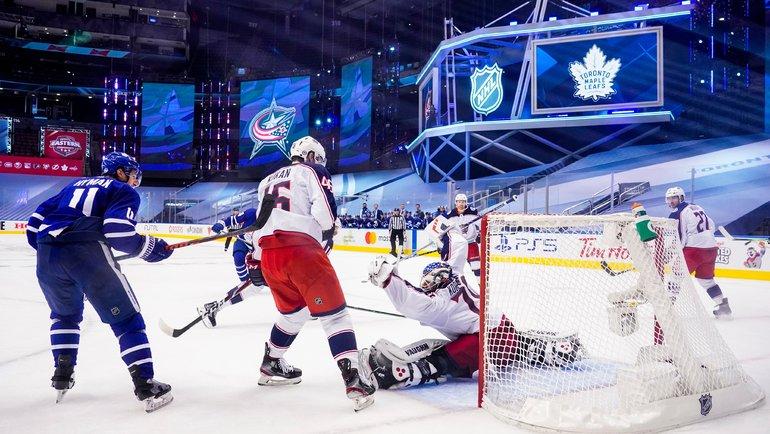Голкипер «Коламбуса» Йоонас Корписало сыграл наноль вматче против «Торонто». Фото twitter.com/BlueJacketsNHL