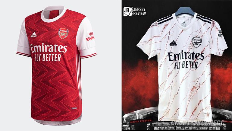 Домашняя игостевая формы «Арсенала» сезона 2020/21.