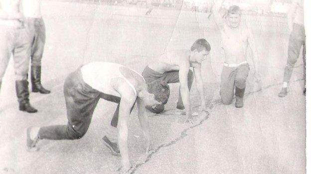 Москва. 1980 год. Олимпийские старты гвардейцев-таманцев наПарадной площадке. Фото Архив Игоря Купермана