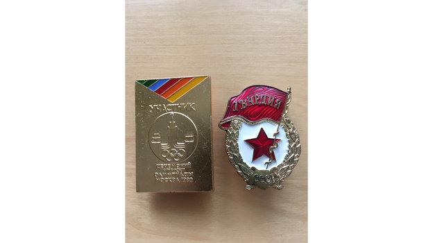 Значок участника Олимпийских игр. Фото Архив Игоря Купермана