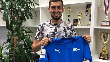 Бывший защитник «Анжи» Гаджибеков стал игроком «Чайки»