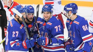 СКА разгромил «Локомотив» (6:0) впредсезонном матче.