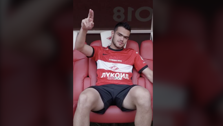 Остон Урунов вформе «Спартака».