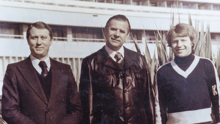 Анатолий Коршунов, Лев Яшин иМихаил Булгаков. Фото изархива Анатолия Коршунова