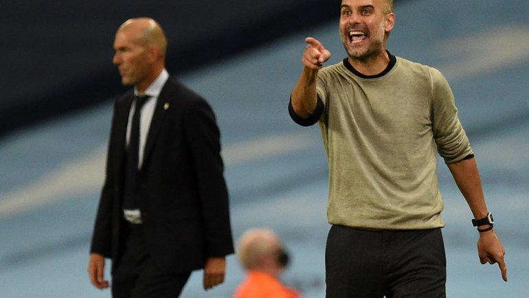 «Манчестер Сити» vs «Реал»: Хосеп Гвардьола снова победил Зинедина Зидана. Фото AFP