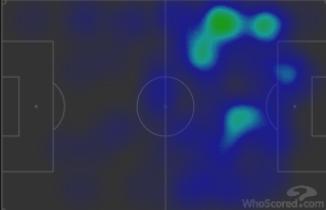 Тепловая карта Стерлинга, Жезуса иФоудена вматче «Манчестер Сити»— «Реал» (2:1). Фото whoscored.com