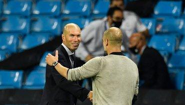 Разговор Гвардьолы иЗидана после матча «Манчестер Сити»— «Реал». Это было легендарно