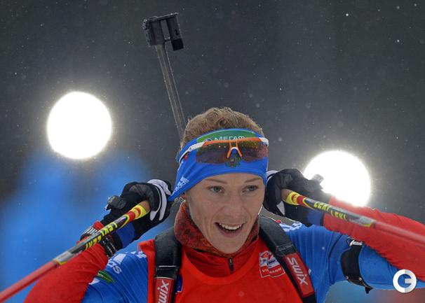 Победительница гонки преследования на этапе Кубка мира в Оберхофе Ольга ЗАЙЦЕВА.