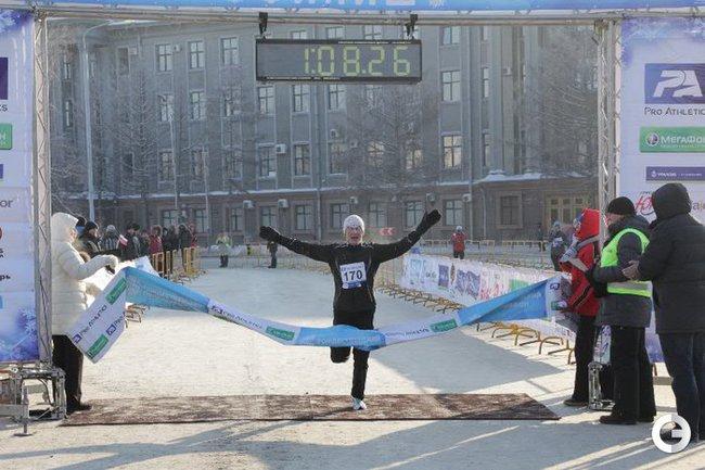 Артем Екимов - финиш победителя.