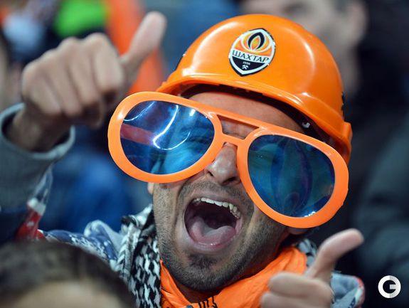 """5 декабря. Настоящие горняки болеют за """"Шахтер"""". Фото AFP."""