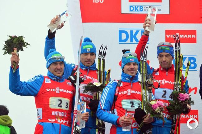 Серебряный призер эстафетной гонки - российская сборная.