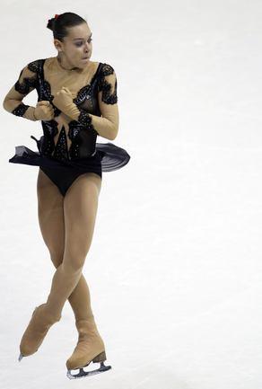 Лидер соревнований - Аделина СОТНИКОВА.