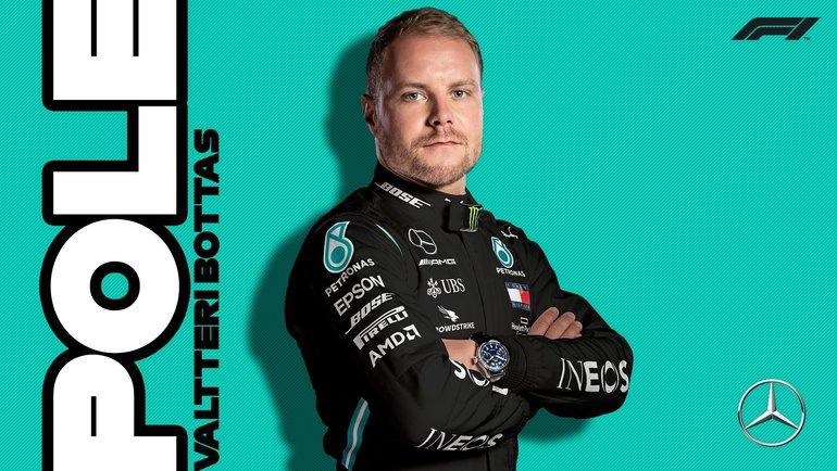 Валттери Боттас. Фото twitter.com/F1.