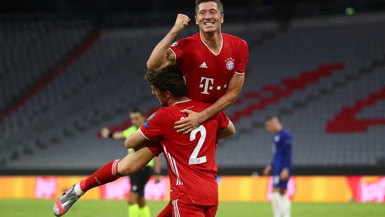 8августа. Мюнхен. «Бавария»— «Челси»— 4:1. Роберт Левандовски— герой матча. Фото Reuters