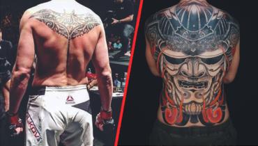 Волков сделал татуировку навсю спину