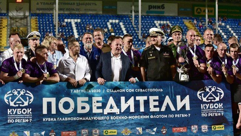 Награждение победителей. Фото Пресс-служба Федерации регби России