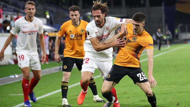 11августа. Дуйсбург. «Вулверхэмптон Уондерерс» (Англия)— «Севилья» (Испания)— 0:1. Фото AFP