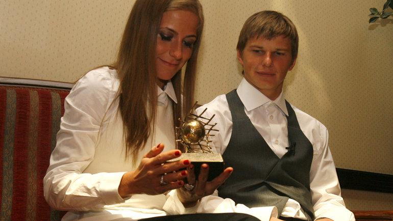 2008 год. Андрей Аршавин иЮлия Барановская. Фото Алексей Иванов, -