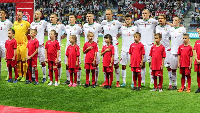 Сборная Белоруссии. Фото АБФФ