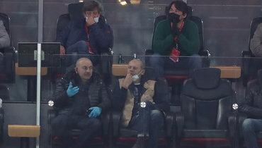 Черчесов иРомащенко посетили матч «Спартак»— «Ахмат»