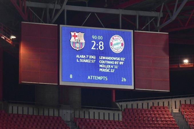 Бавария — Барселона — 8:2, 1/4 финала Лиги чемпионов, обзор прессы, мнение  СМИ о матче. Спорт-Экспресс
