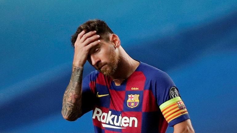 14августа. Лиссабон. «Барселона»— «Бавария»— 2:8. Лионель Месси. Фото AFP