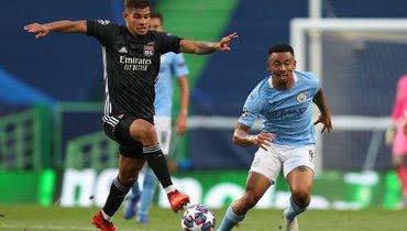 «Лион» победил «Манчестер Сити» итеперь сыграет с «Баварией».