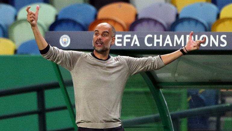 15августа. Лиссабон. «Манчестер Сити»— «Лион»— 1:3. Хосеп Гвардьола. Фото AFP