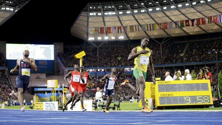 Усэйн Болт на чемпионате мира в Берлине. Фото Reuters
