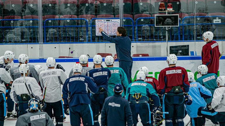 Тренировка «Сибири». Фото ХК «Сибирь».