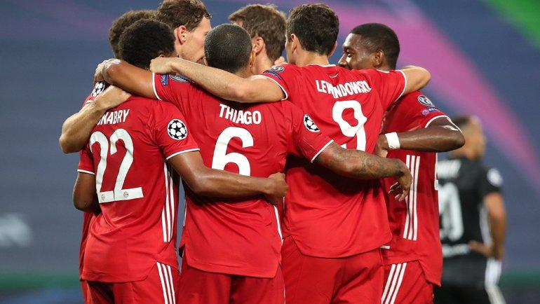 «Бавария» празднует гол. Фото ФК «Бавария».