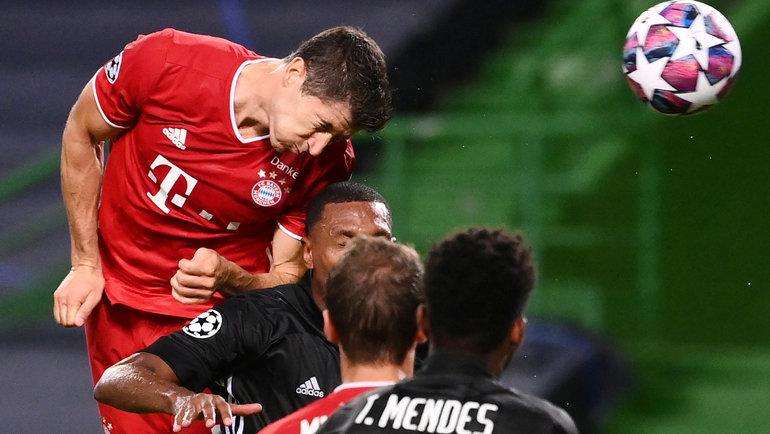 19августа. Лиссабон. 88-я минута. Роберт Левандовски забивает третий гол. Фото Reuters
