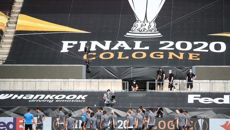 Тренировка «Интера» перед финальным матча Лиги Европы. Фото AFP