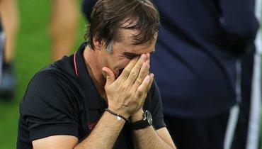 Лопетеги расплакался после победы вфинале Лиги Европы