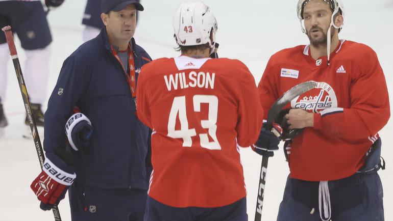 Тодд Рирден (слева) иАлександр Овечкин (справа). Фото Geoff Burke, USA Today Sports