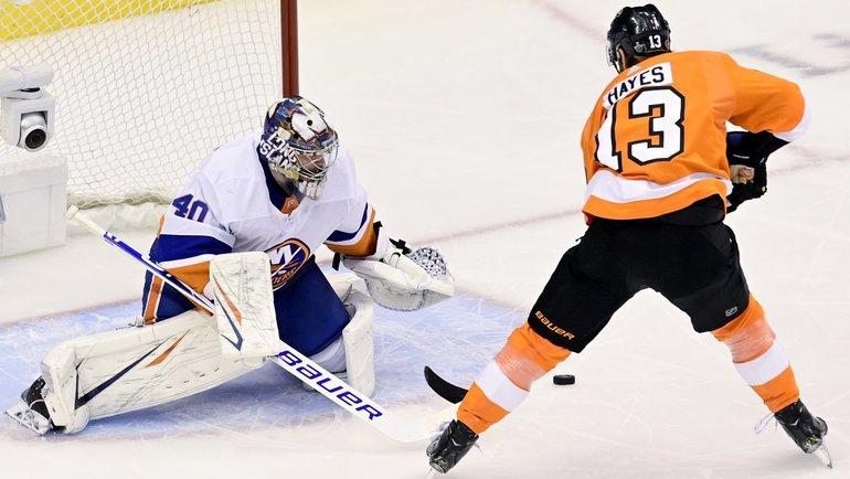 «Айлендерс» обыграли «Филадельфию» (4:0), Семен Варламов отразил все 29 бросков. Фото Sportsnet