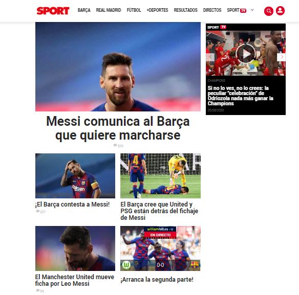 Портал Sport.es.