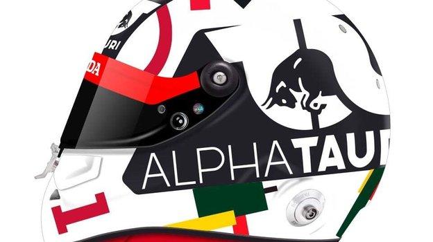 Шлем Квята на гонку в Сочи.
