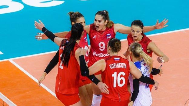 Женская сборная России набрала всего 2 очка напредсезонном турнире. Фото vk.com/vc.loko