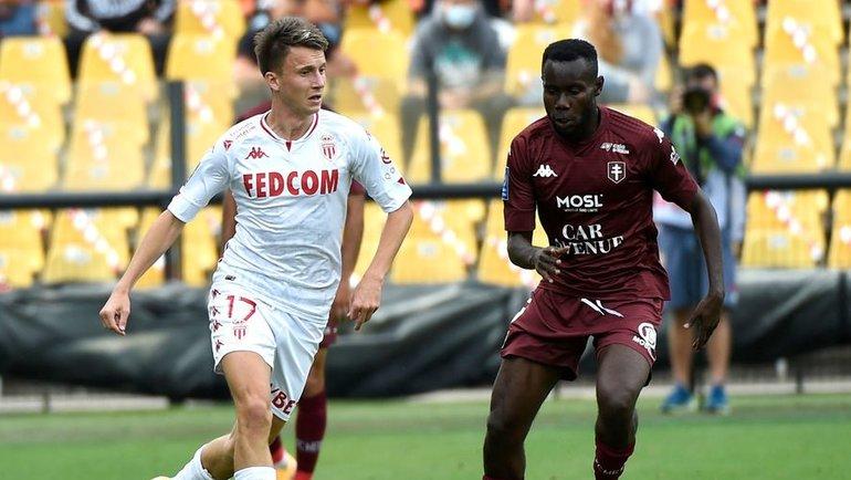 30августа. Метц. «Метц»— «Монако»— 0:1. Александр Головин вигре (слева). Фото AFP