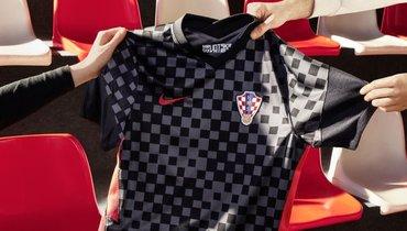 Сборная Хорватии презентовала новую форму. Альтернативный вариант— черно-серый вмелкую клетку