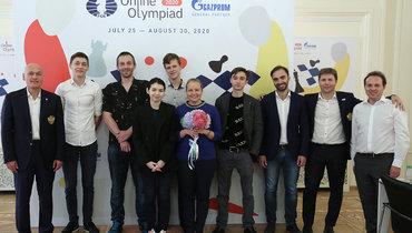 Сборная России выиграла золото онлайн-олимпиады ФИДЕ.