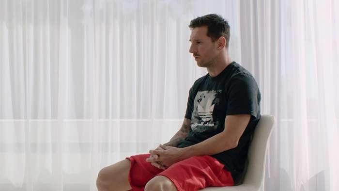 Лионель Месси во время интервью. Фото Goal.com.