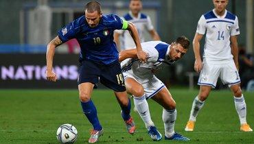 Италия сыграла вничью сБоснией иГерцеговиной