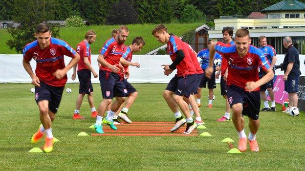 Футболисты сборной Чехии. Фото AFP