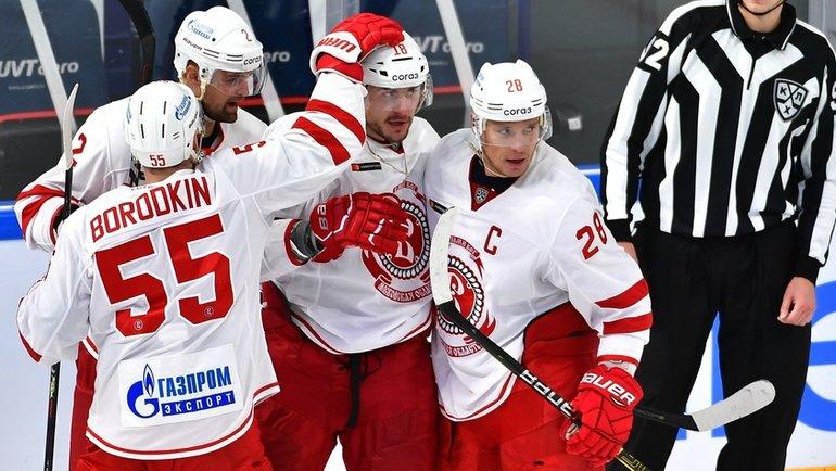 «Витязь» всухую обыграл «АкБарс» вчемпионате КХЛ. Фото ХК «АкБарс»