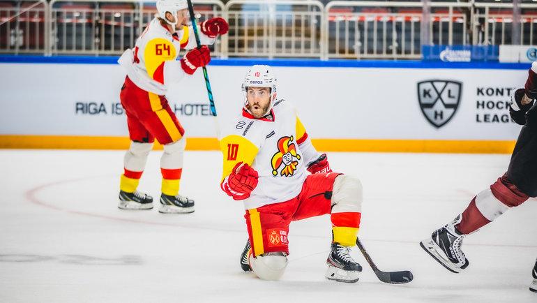 «Йокерит» обыграл рижское «Динамо» вматче регулярного чемпионата. Фото twitter.com/jokerithc