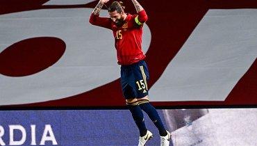 Рамос сделал дубль вигре сУкраиной ивышел на8-е место всписке бомбардиров сборной Испании